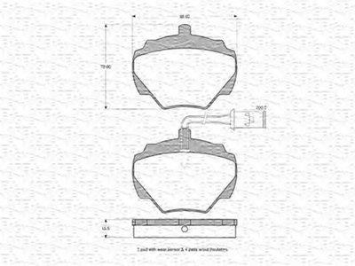 Комплект тормозных колодок, дисковый тормоз MAGNETI MARELLI купить