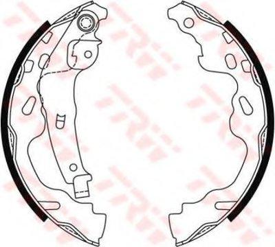 Комплект тормозных колодок TRW купить