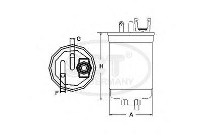 ST775 SCT GERMANY Топливный фильтр