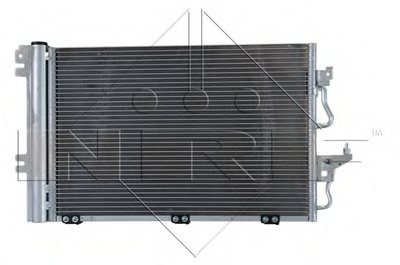 Радиатор кондиционера EASY FIT NRF 35555 для авто OPEL с доставкой-2