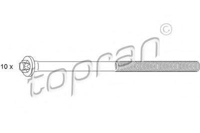 Комплект болтов головки цилидра TOPRAN купить