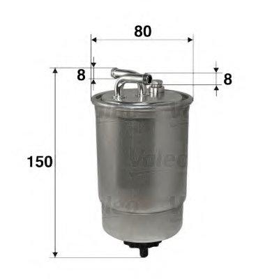 587512 VALEO Топливный фильтр