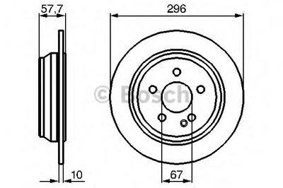 Гальмівний диск MB Vito, Viano W639 R