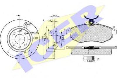 Комплект тормозов, дисковый тормозной механизм ICER купить