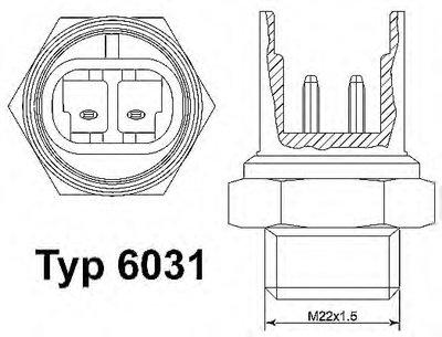 6031100D WAHLER Термовыключатель, вентилятор радиатора