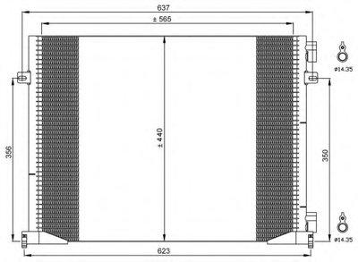 Конденсатор, кондиционер NRF 35482 для авто NISSAN, OPEL, RENAULT с доставкой