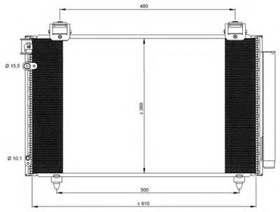Радиатор кондиционера NRF 35592 для авто TOYOTA с доставкой