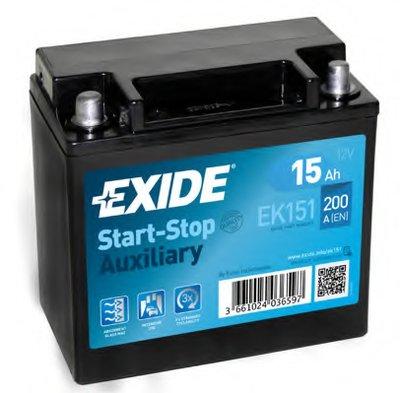 EK151 EXIDE Стартерная аккумуляторная батарея; Стартерная аккумуляторная батарея
