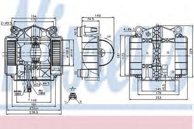 Вентилятор отопителя MERCEDES  S-CLASS W 221 (05-) (пр-во Nissens)