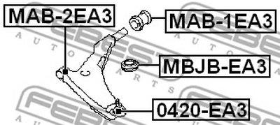 Сайлентблок FEBEST MAB2EA3