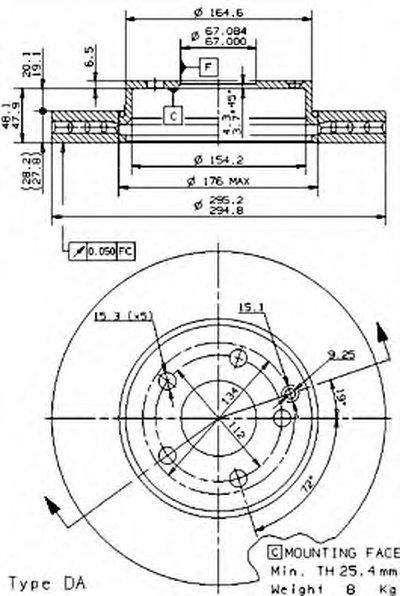 Тормозной диск Brembo Painted disk