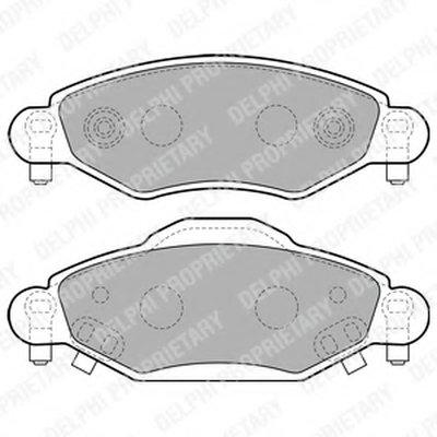 Lp1840_!колодки Дисковые П. Toyota Yarisverso 1.31.5Wt-I1.4D 01 DELPHI LP1840 для авто TOYOTA с доставкой