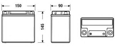 EK151 EXIDE Стартерная аккумуляторная батарея; Стартерная аккумуляторная батарея-1