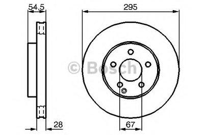 Тормозной диск Bosch BOSCH 0986479038 для авто MERCEDES-BENZ с доставкой
