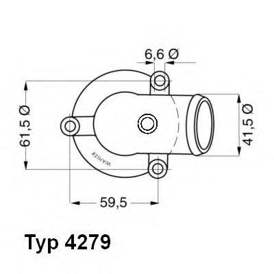 427987D WAHLER Термостат, охлаждающая жидкость