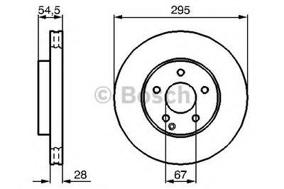 Тормозной диск Bosch