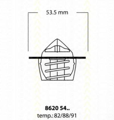 Термостат, охлаждающая жидкость TRISCAN купить