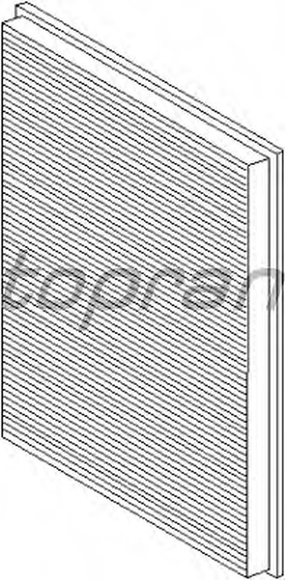 108408 TOPRAN Фильтр, воздух во внутренном пространстве