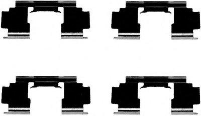 Комплектующие, колодки дискового тормоза HELLA купить