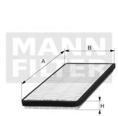 CU2136 MANN-FILTER Фильтр, воздух во внутренном пространстве
