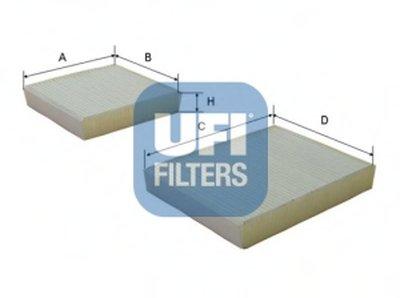 5314300 UFI Фильтр, воздух во внутренном пространстве