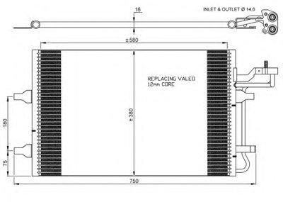Конденсатор, кондиционер NRF 35770 для авто VOLVO с доставкой