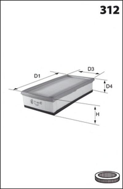 Воздушный фильтр LAUTRETTE MECAFILTER купить
