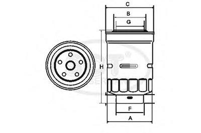 ST307 SCT GERMANY Топливный фильтр