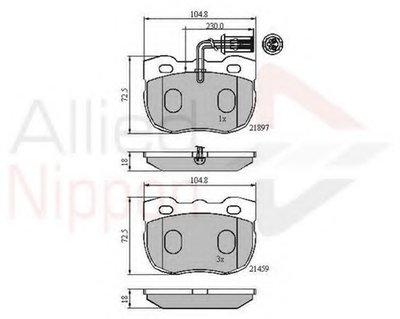 Комплект тормозных колодок, дисковый тормоз ANL Braking COMLINE купить