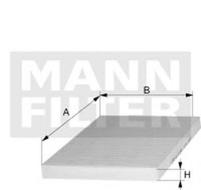 CUK22022 MANN-FILTER Фильтр, воздух во внутренном пространстве