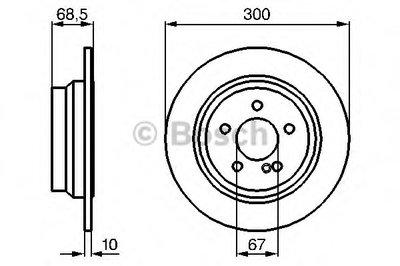 Гальмівний диск MB W211 2002- R