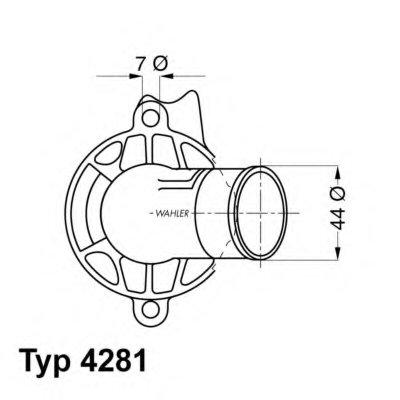 428187D WAHLER Термостат, охлаждающая жидкость