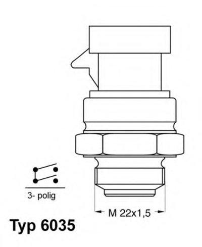 603592D WAHLER Термовыключатель, вентилятор радиатора