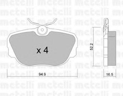 Комплект тормозных колодок, дисковый тормоз METELLI купить