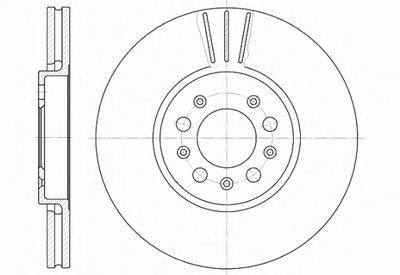 Диск тормозной AUDI A3, SEAT TOLEDO, SKODA FABIA, OCTAVIA, VW передн., вент. (пр-во REMSA)