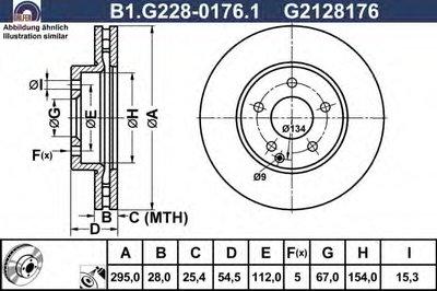 Диск тормозной GALFER B1G22801761 для авто  с доставкой