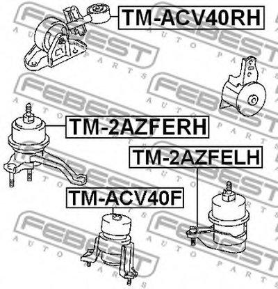 Опора двигуна гумометалева FEBEST TMACV40RH