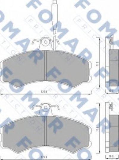 Комплект тормозных колодок, дисковый тормоз FOMAR Friction купить