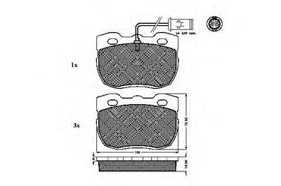 Комплект тормозных колодок, дисковый тормоз SPIDAN купить
