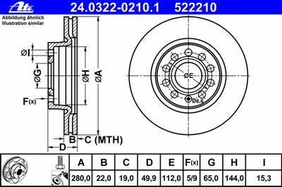 24032202101 ATE Тормозной диск