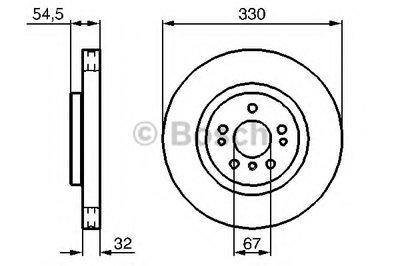 """Гальмівний диск MERCEDES ML(164)3,2-3,5CDI F """"05>>"""