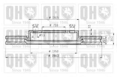 Гальмiвнi диски QUINTON HAZELL BDC4678 для авто LOTUS, OPEL, SAAB с доставкой