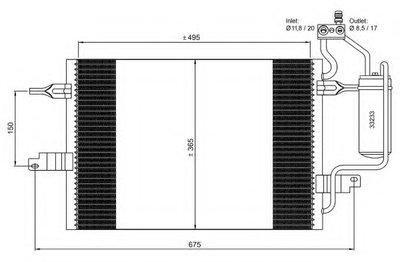 Pадиатоp Кондиционеpа NRF 35599 для авто OPEL с доставкой