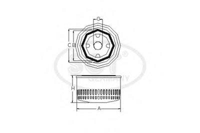 SM101 SCT GERMANY Масляный фильтр -2