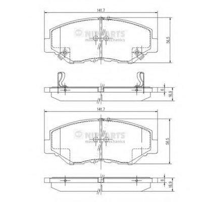 J3604061_Колодки Дисковые Передние! Honda Cr-V Ii 2.02.2Cdti 02 NIPPARTS J3604061 для авто HONDA с доставкой