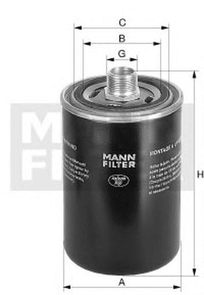 WD9629 MANN-FILTER Масляный фильтр