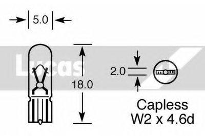 Лампа накаливания, дополнительный фонарь сигнала торможения LUCAS ELECTRICAL купить