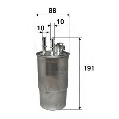 587521 VALEO Топливный фильтр