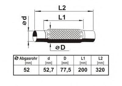 Гофрированная труба, выхлопная система; Гофрированная труба, выхлопная система ERNST купить