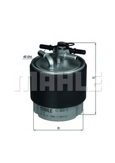 KL44018 KNECHT Топливный фильтр